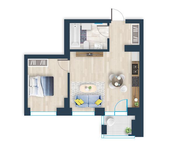 Naujas butas 1, Pilaitėje, Vilniuje
