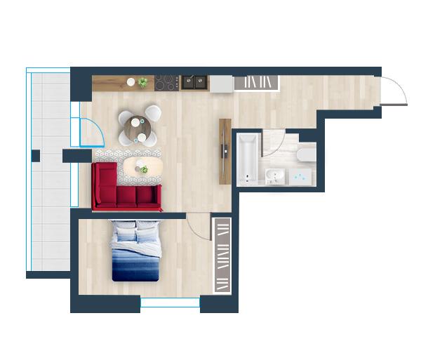 Naujas butas 10, Pilaitėje, Vilniuje