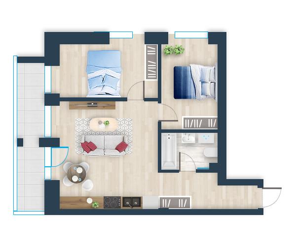 Naujas butas 11, Pilaitėje, Vilniuje
