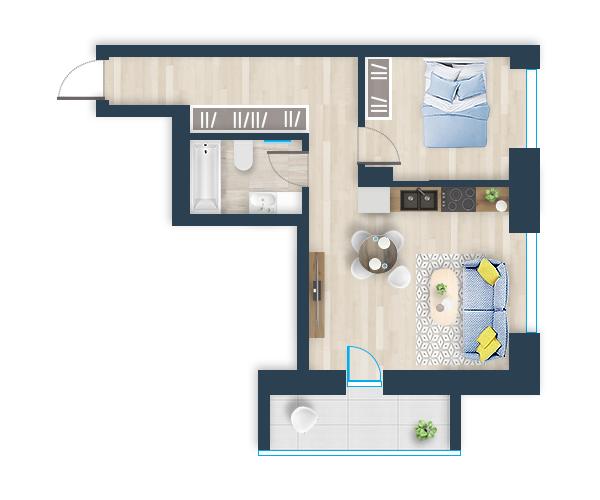 Naujas butas 15, Pilaitėje, Vilniuje