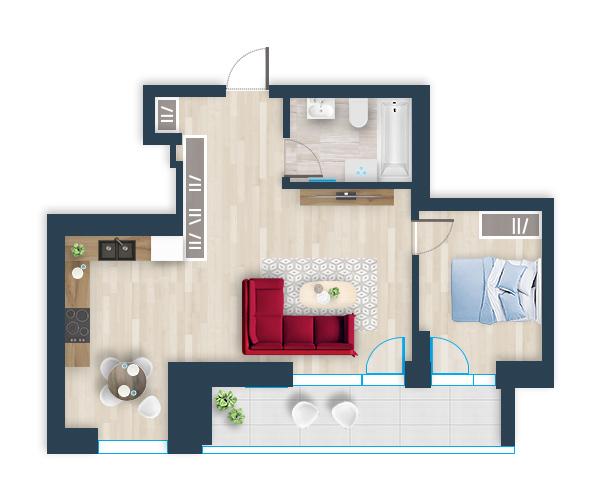 Naujas butas 16, Pilaitėje, Vilniuje