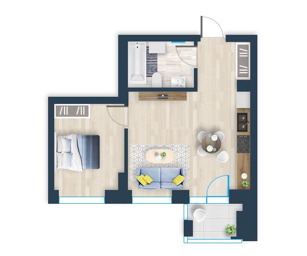 Naujas butas 17, Pilaitėje, Vilniuje