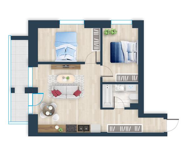 Naujas butas 19, Pilaitėje, Vilniuje