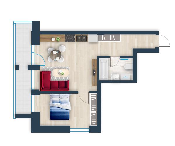 Naujas butas 2, Pilaitėje, Vilniuje