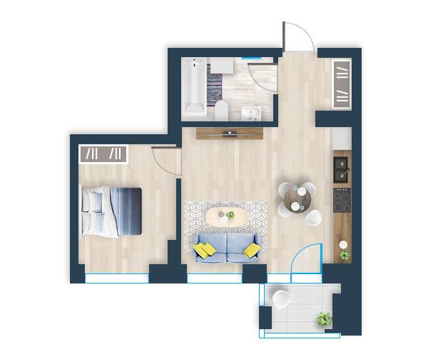 Naujas butas 25, Pilaitėje, Vilniuje