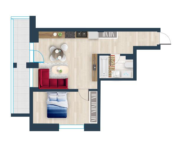 Naujas butas 26, Pilaitėje, Vilniuje