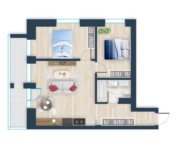 Naujas butas 27, Pilaitėje, Vilniuje