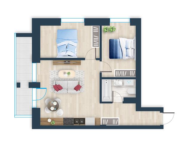 Naujas butas 3, Pilaitėje, Vilniuje