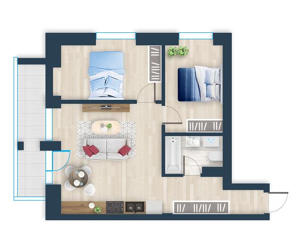 Naujas butas 35, Pilaitėje, Vilniuje