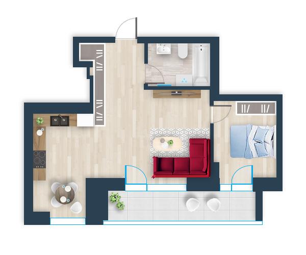 Naujas butas 40, Pilaitėje, Vilniuje