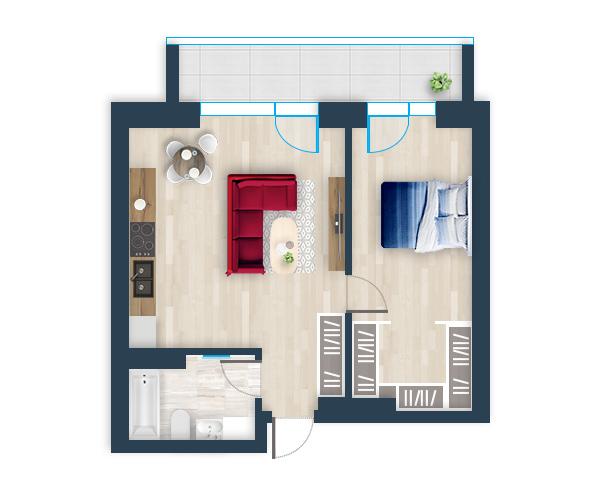 Naujas butas 5, Pilaitėje, Vilniuje