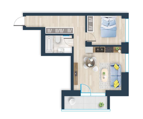 Naujas butas 7, Pilaitėje, Vilniuje