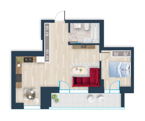 Naujas butas 8, Pilaitėje, Vilniuje